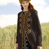 Embroidered Coat in ggh Sportlife - Rebecca Knit Kit - I Wool Knit
