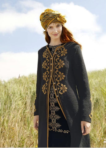 Embroidered coat in ggh Sportlife - I Wool Knit