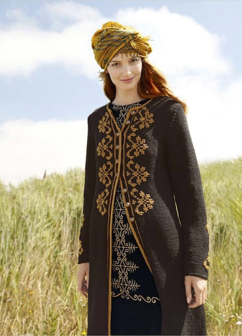 Embroidered Coat, Rebecca Knit Kit