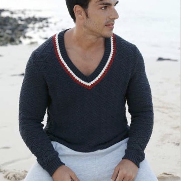 Pullover with structural pattern for her and him - Rebecca Knit Kit