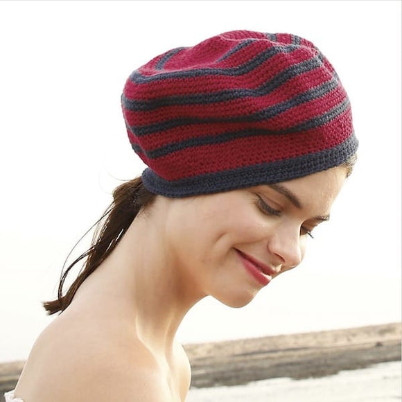Women's Crochet Hat in ggh Volante - Rebecca Knit Kit - I Wool Knit