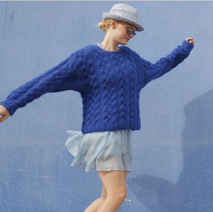 Rebecca Knit Kit: Jumper with cables in ggh Kid. I Wool Knit