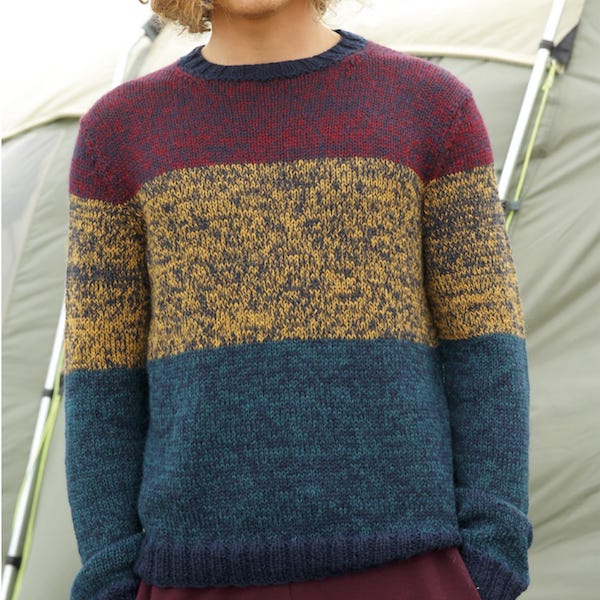 Men S Knitting Pattern Jumper In Alpaca Yarn I Wool Knit