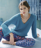 Sweater with Batwing Sleeves in ggh Lacy - Rebecca Knit Kit - I Wool Knit