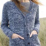Mottled Jacket in ggh Reva, Rebecca knit kit - I Wool Knit