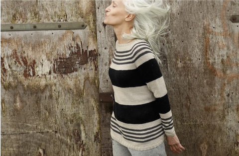 Rebecca Knit Kit: Raglan jumper with stripes