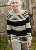 Raglan Jumper with Stripes in ggh Elbsox - Rebecca Knit Kit - I Wool Knit