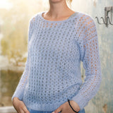 Mohair crochet jumper in ggh Kid - Rebecca Knit Kit - I Wool Knit