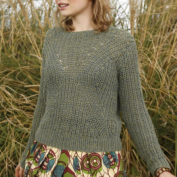 Rebecca knit kit brioche stitch jumper in ggh REVA - I Wool Knit