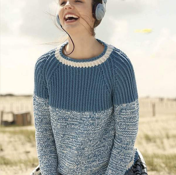 Raglan Pullover in ggh Volante - Rebecca Knit Kit - I Wool Knit