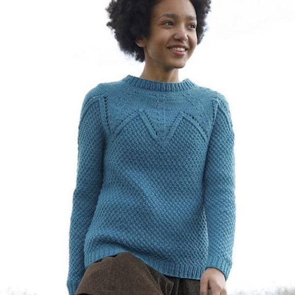 Jumper with Round Yoke in ggh Sportlife - Rebecca Knit Kit - I Wool Knit