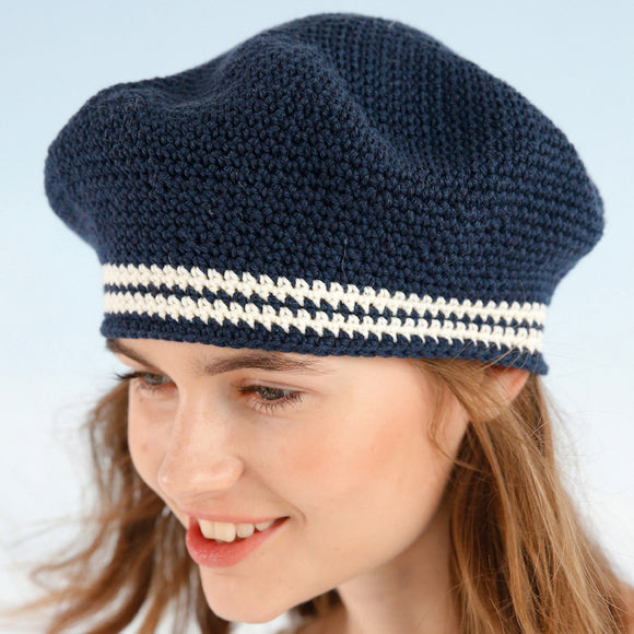 Rebecca crochet kit: beret in ggh Volante - I Wool Knit