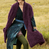 Scarf with pockets. Rebecca Knit Kit in ggh Lavella available from I Wool Knit