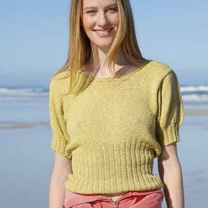 Rebecca knit kit for Retro style jumper with puffed sleeves - I Wool Knit