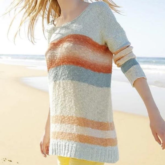 Rebecca knitting pattern. Summer Sweater in ggh Manila - I Wool Knit