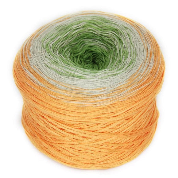 Rellana Regenbogen 32, Sandelwood, hand-wound multi-coloured yarn cake, 4ply, 200g - I Wool Knit