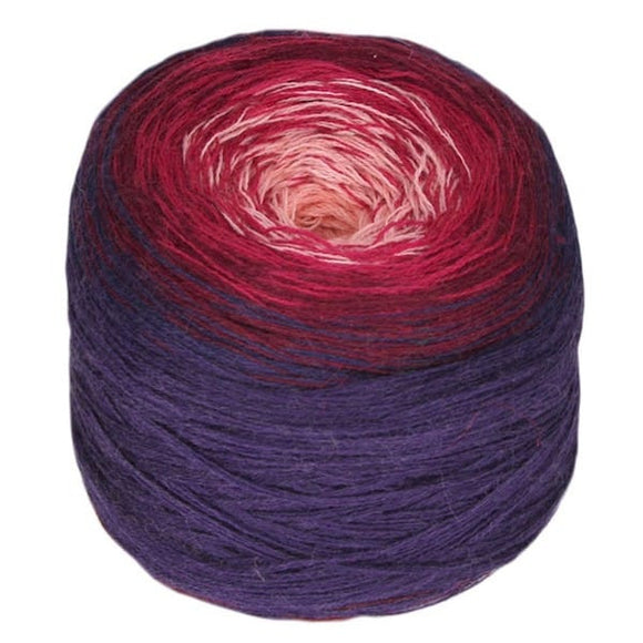 Regenbogen Merino multi-coloured knitting yarn cake, I Wool Knit
