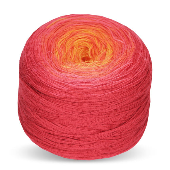 Rellana Regenbogen Merino 224, Hibiscus, hand-wound multi-coloured yarn cake, 200g - I Wool Knit