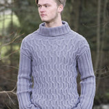 Men's Cable Knit Sweater in Merino yarn - I Wool Knit
