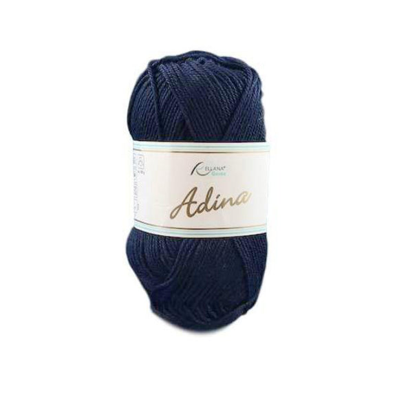 Rellana Adina 04, navy blue, 100% cotton, 4ply, 50g - I Wool Knit