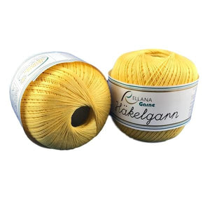 Rellana Häkelgarn 021 Yellow, Cotton Crochet Yarn - I Wool Knit