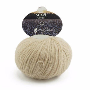 Pascuali Suave 052 beige, cotton yarn with cashmere feel, 25g - I Wool Knit