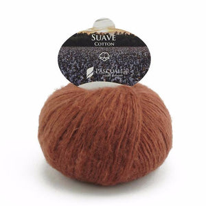 Pascuali Suave 054 red-brown, cotton yarn with cashmere feel, 25g - I Wool Knit