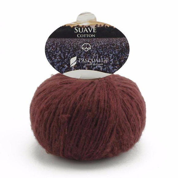 Pascuali Suave 056 brown-red, cotton yarn with cashmere feel, 25g - I Wool Knit