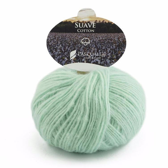 Pascuali Suave 058 mint, cotton yarn with cashmere feel, 25g - I Wool Knit