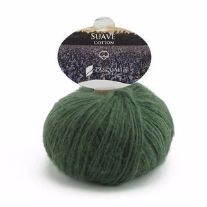 Pascuali Suave 060 forest, cotton yarn with cashmere feel, 25g - I Wool Knit