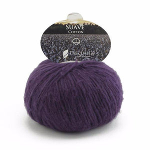 Pascuali Suave 066 plum, cotton yarn with cashmere feel, 25g - I Wool Knit