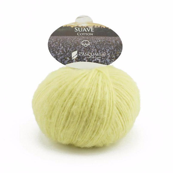 Pascuali Suave 070 lemon, cotton yarn with cashmere feel, 25g - I Wool Knit