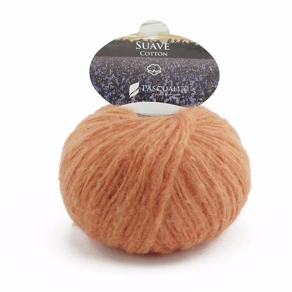 Pascuali Suave 072 orange, cotton yarn with cashmere feel, 25g - I Wool Knit