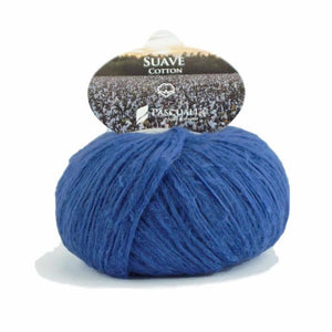 Pascuali Suave 078 blue, cotton yarn with cashmere feel, 25g - I Wool Knit