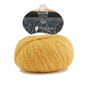 Pascuali Suave 080 curry, cotton yarn with cashmere feel, 25g - I Wool Knit