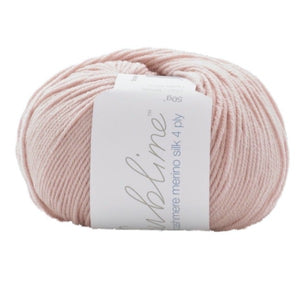 Sirdar Sublime Baby Cashmere Merino Silk 001, piglet, 4ply, 50g - I Wool Knit