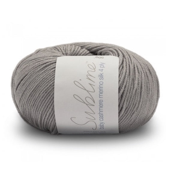 Sublime Baby Cashmere Merino Silk 682, moon, 4ply, 50g - I Wool Knit