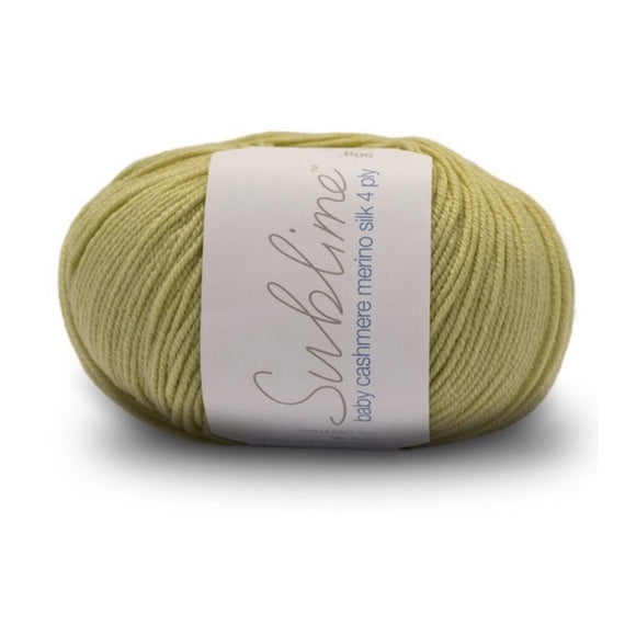 Sirdar Sublime Baby Cashmere Merino Silk 684, limeade, 4ply, 50g - I Wool Knit