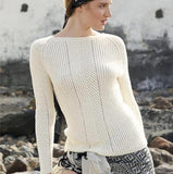 Sweater with Herringbone Pattern, Rebecca Knit Kit, I Wool Knit
