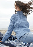 Sweater with honeycomb pattern in ggh Sportlife - Rebecca Knit Kit - I Wool Knit