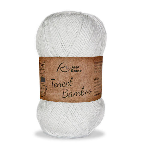 Rellana Tencel Bamboo 001 white, 5ply, 50g - I Wool Knit