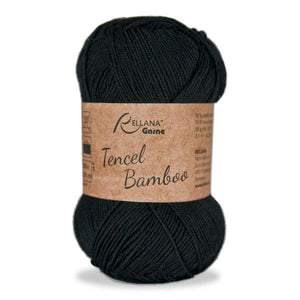 Rellana Tencel Bamboo 002 black, 5ply, 50g - I Wool Knit