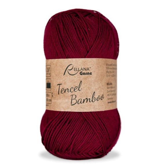 Rellana Tencel Bamboo 003 red, 5ply, 50g - I Wool Knit