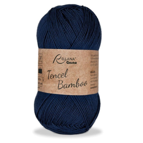 Rellana Tencel Bamboo 004 navy, 5ply, 50g - I Wool Knit