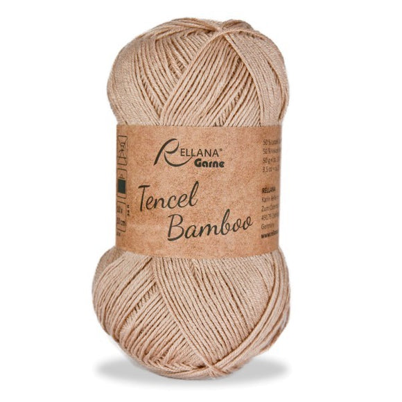 Rellana Tencel Bamboo 018 beige, 5ply, 50g - I Wool Knit