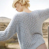 Wide Sweater with Lace Pattern in ggh Bellina - Rebecca Knit Kit - I Wool Knit
