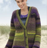 Rebecca Knit Kit Women's Cardigan in Joker - I Wool Knit