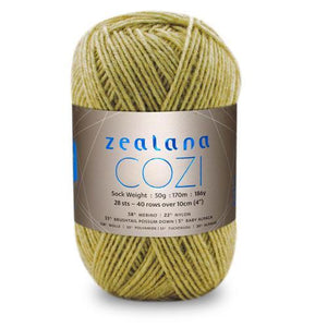 Zealana Cozi 03 sock yarn, custard, Possum, Alpaca & Merino, 4ply, 50g - I Wool Knit