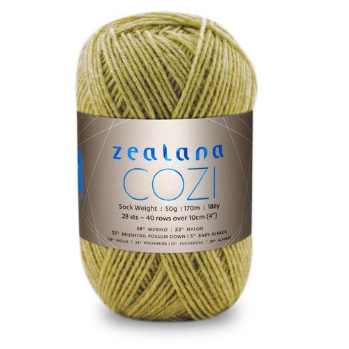 Zealana Cozi 03, custard, 4ply, 50g - I Wool Knit
