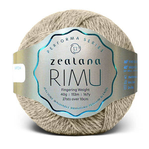 Zealana Rimu Fingering 01, Natural, Merino-Possum, 4ply, 40g - I Wool Knit